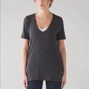 Lululemon Love Tee IV Pitch Grey V Neck Shirt